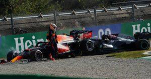 Max saw Hamilton 'was fine' as he left crash scene