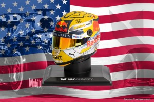 Contest GP USA: win a 1:4 scale model of Max' yellow 2019 helmet!