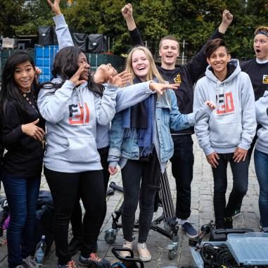 Fantastiske elever fra medielinjen som er fornøyde med egen innsats!