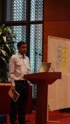 Shamim Ahamed presenting the Samriddhi project