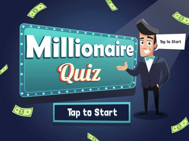 MILLIONAIRE QUIZ TV show  you ll surely like this game  Choose your topic and prepare for a  series of questions  starting with easy ones and ending