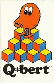 Vintage 80's Q-bert Arcade Game Sticker (Version 3) | My childhood ...