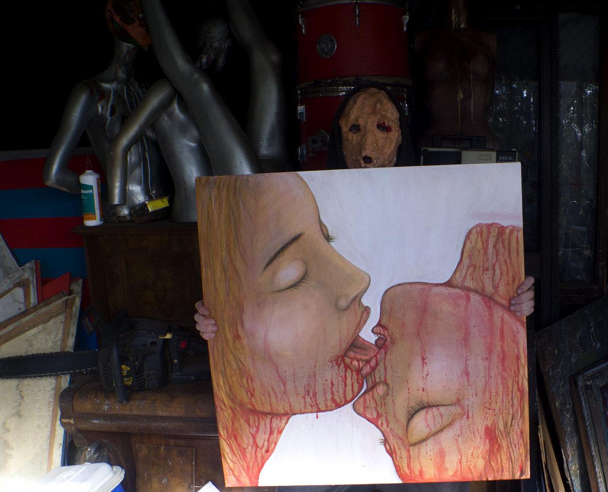 Erotic Stories Written In Blood Original Painting Photo