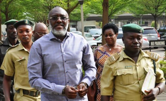 In handcuffs, on wheelchair… outstanding images from Metuh's trial