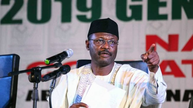 Image result for INEC chairman: We'll give automatic employment to corps members who do well on election duty