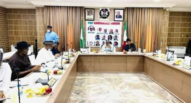 PDP crisis: Governors yet to reach resolutiPDP crisison after meeting for hours, to reconvene  Tuesday