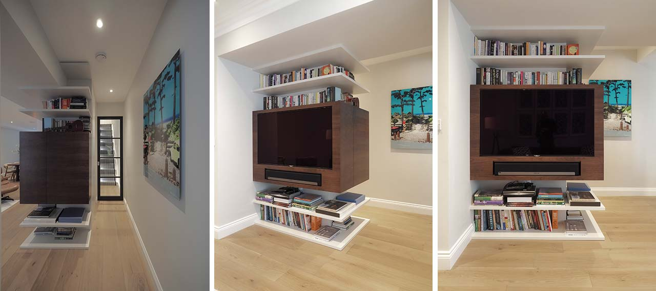 Bespoke TV and shelving unit