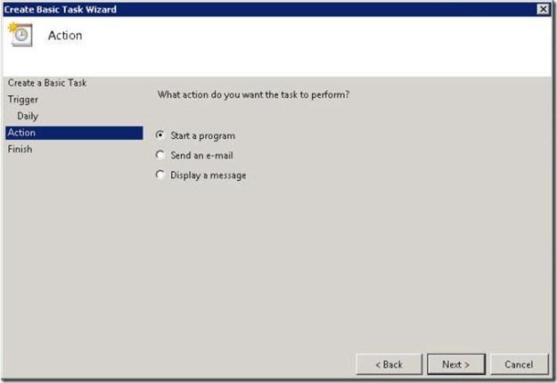 Scheduling OpsMgr Backup in Server 2008 - 07