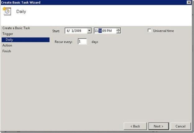 Scheduling OpsMgr Backup in Server 2008 - 06