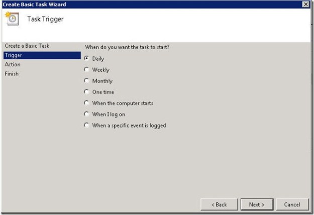 Scheduling OpsMgr Backup in Server 2008 - 05