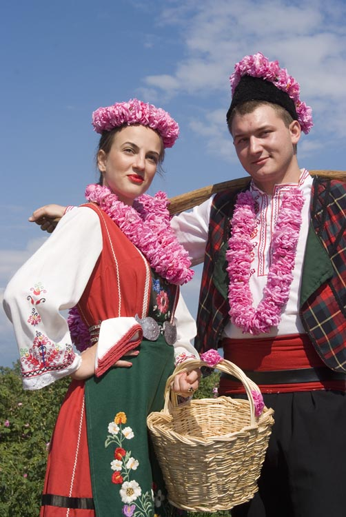Bulgaria Lady And Bulgarian Man In Traditional Costume
