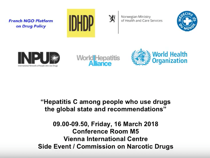 [VIDEO] Hepatitis C among people who use drugs, Governments & the UN.