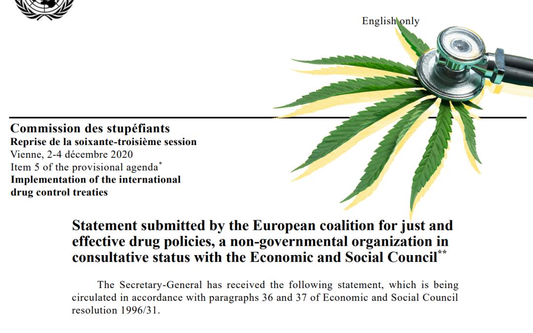 Vote cannabis OMS : Soutenez l'accès médicinal pour les patient.e.s, votez oui ! [signé par 193 ONGs]