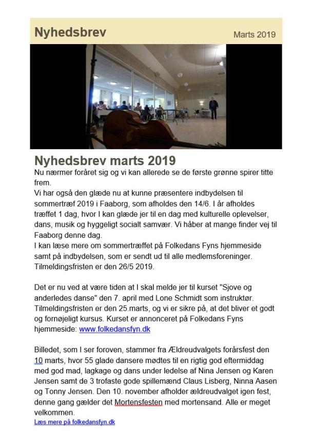 Nyhedsbrev marts 2019 Folkedans Fyn