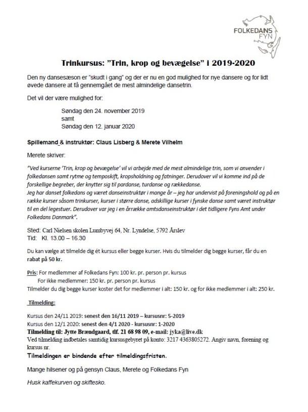 Trin, krop og bevægelse 2019 - 2020