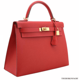 Hermes Rouge Casque Kelly