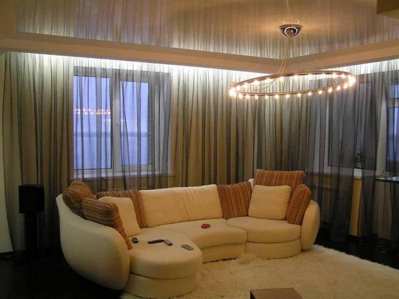 corniche cachee dans le plafond tendu