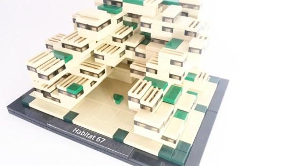 Lego model of Habitat 67