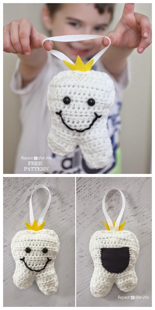 crochet tooth fairy pillow free crochet