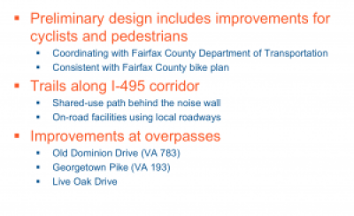495 Express Lanes Extension Bike Plans 300x183 - I-495 Express Lanes Northern Extension Study Public Meeting Report