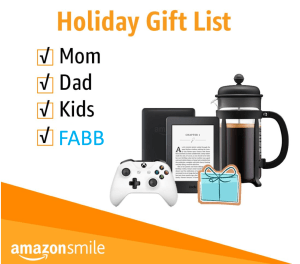 FABB Smile 300x264 - Support FABB with Holiday Shopping at Amazon Smile