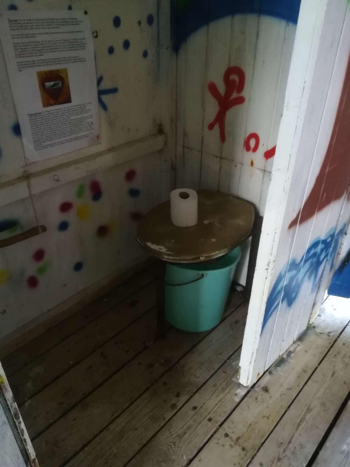 Toiletterne på Vejlø ø-lejr