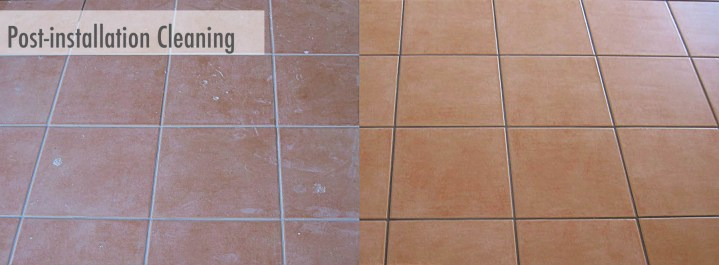post-installation cleaning tile floors