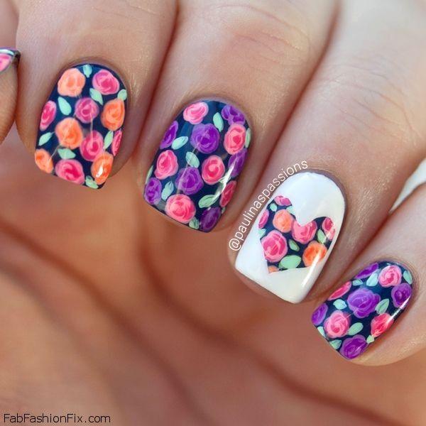 Spring Flowers Nail Art Designs