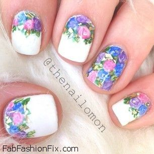 Nothing Screams Feminine More Than Flowers And Pretty Pastel Colors But If You Prefer Darker Nail Polish Can Still Go For Black Color