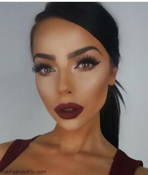 Fall Wedding Makeup Dark Lips
