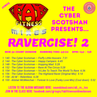 RAVERCISE! 2 - Back Cover