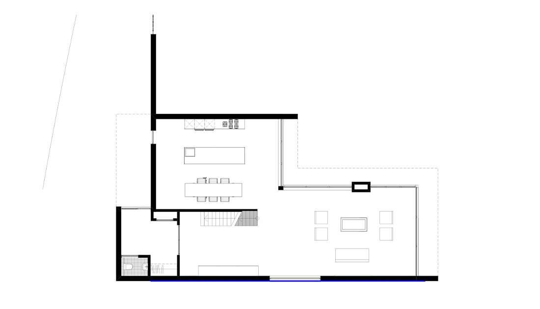 plattegrond eigentijdse villa