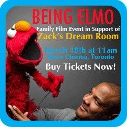 "Zack's Dream Room Fundraiser – Exclusive ""Being Elmo"" Screening"