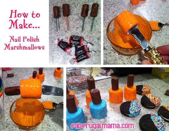 make fancy nail polish marshmallow