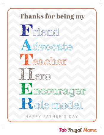 Fab Frugal Mama Father's Day printable v2