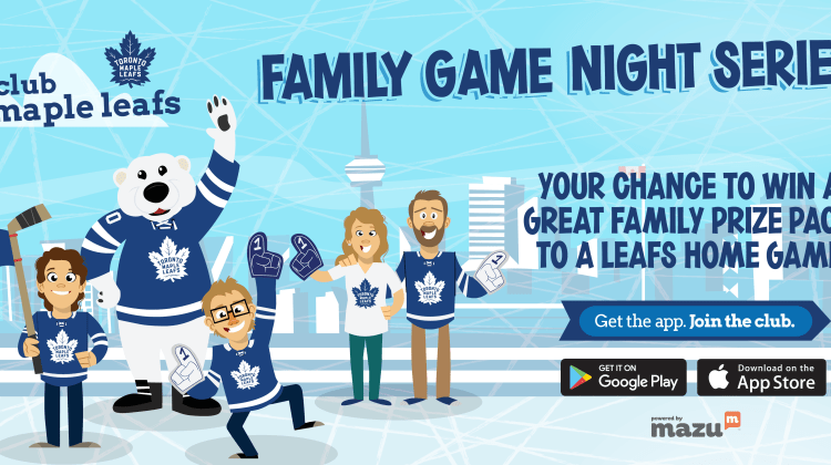 Toronto Maple Leafs Giveaway: Family Game Night Prize Pack