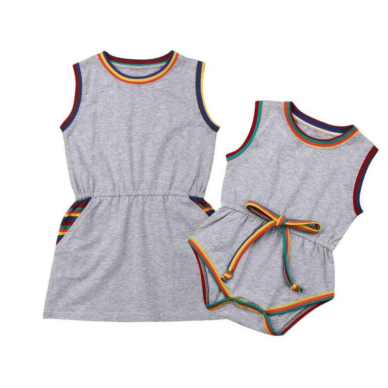 Sporty Summer Gray Casual Match Dress