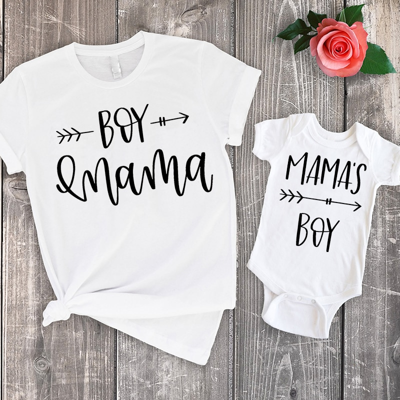 Mamas Boy Baby Bodysuit Rompers Mommy Top