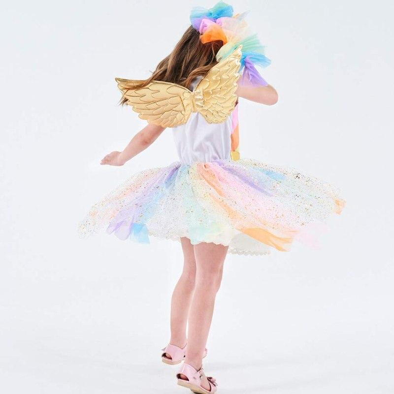 Rainbow Unicorn Dress with Matching hairband