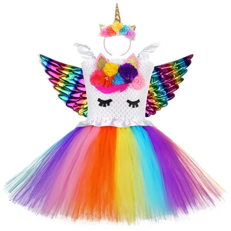 Unicorn Dress with matching hairband
