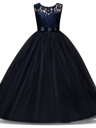 Ribbon and Bow Party Pageant Formal Dress for Teens