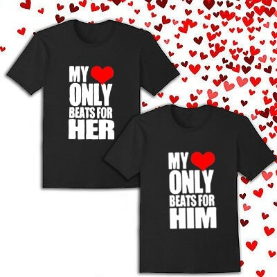 Lovers couple matching valentine tees