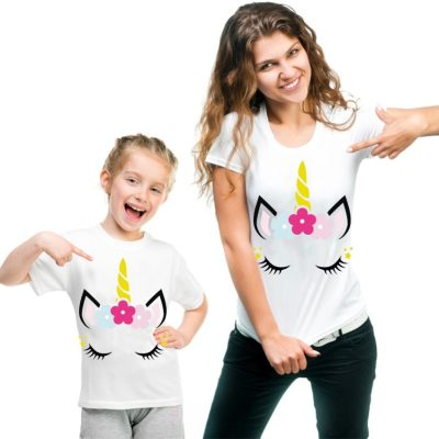 Mother Daughter Son Matching Unicorn Tee