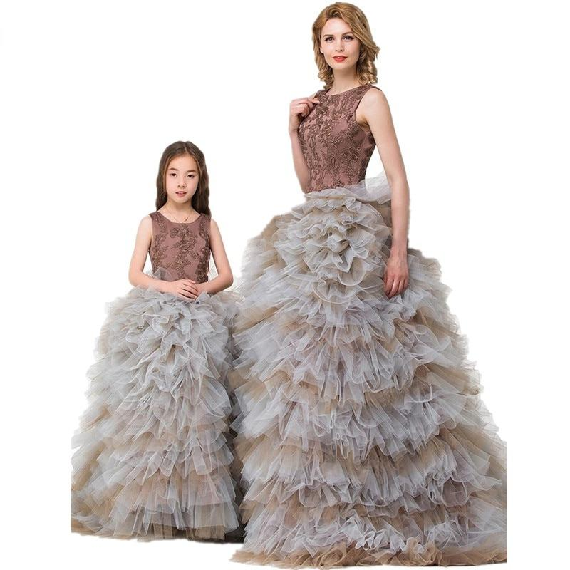 Brownish Ball Gown Prom Performance Formal Wear Skirt