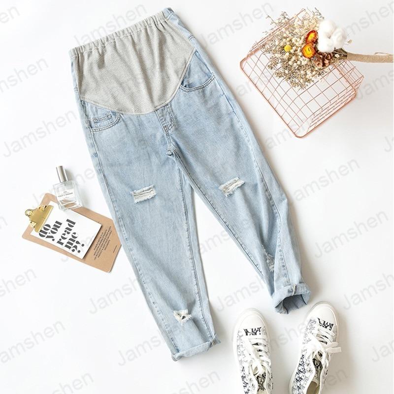 Stomach Lift Ultra-Thin Denim jeans for Pregnant Women