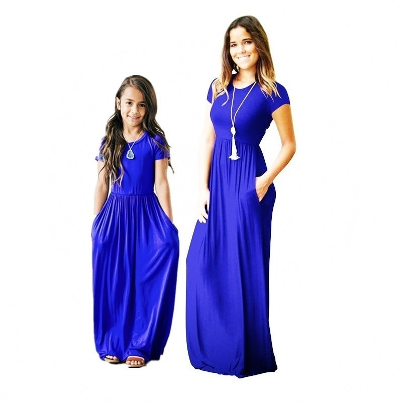 Mommy n Me Matching Blue Dress