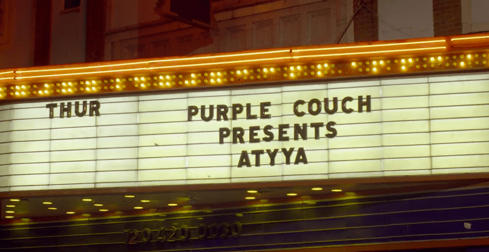 purple couch party