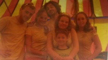 groepsfoto van het circus