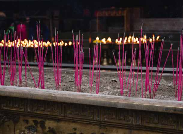 Incense sticks chinese temple