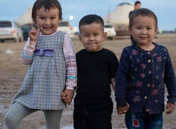 Kazakh kids